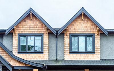 Vorgehängte Fassaden, Holzschindel, Schiefer, Bleche, frb, Dachdeckerarbeiten